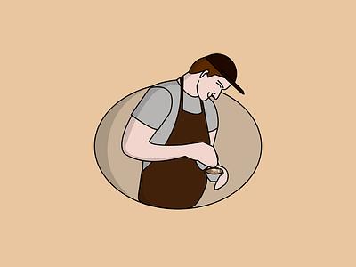 barista coffee baristacoffee coffeebar coffeeshop coffee barista mascot logo mascotlogo mascot design mascot character mascot logo illustration design