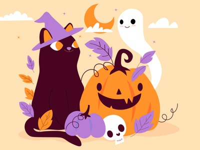 Happy Halloween  My 3rd illustration illustration design
