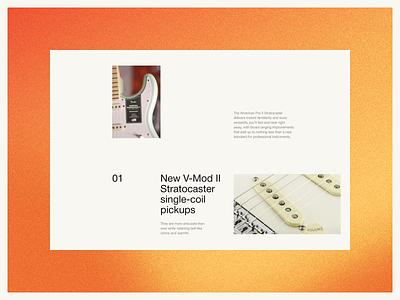Fender Website — UX/UI Concept. Catalog & Product page graphic design minimal branding website web ui ux design animation app