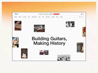 Fender Website — UX/UI Concept. Museum website web ux ui minimal design animation