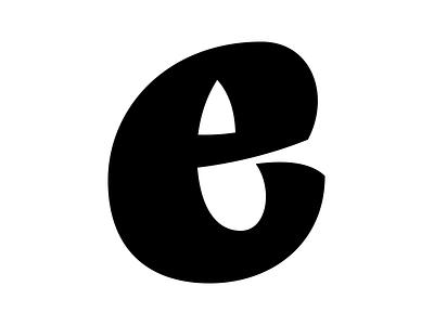 e uppercase nib g calligraphy brush broad vector digital design typography letter type