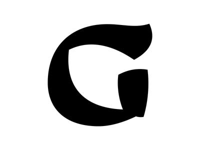 G nib broad brush calligraphy vector typography type uppercase letter g digital design
