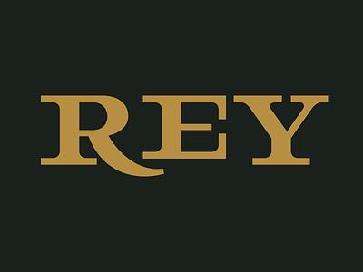 REY Logo calligraphy serif custom typography type vector lettering logo