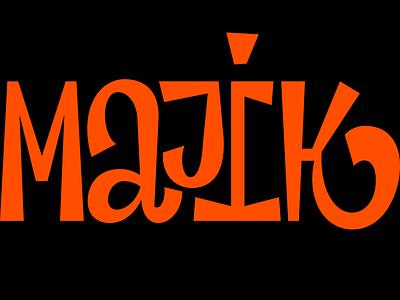 Majik swash playful vector typography type nib logo letter digital calligraphy brush contrast