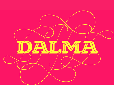 Dalma Typeface font awesome inline text display decorative swash font family variable robofont font design typography typeface design typeface type font
