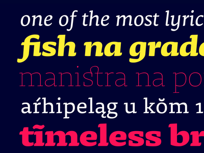 Dalma Typeface Family serif vector curves robofont display text font typeface