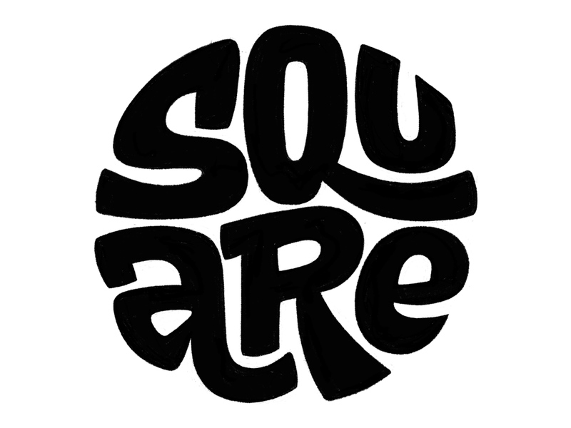 Square sketch type art square round pencil sketch lettering type
