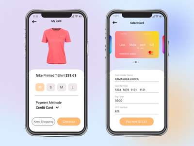 Credit Card Checkout web ux ui illustration design