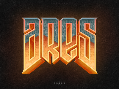Ares doom clothing tshirt wiktor ares music game logotype logo lettering high-style typography