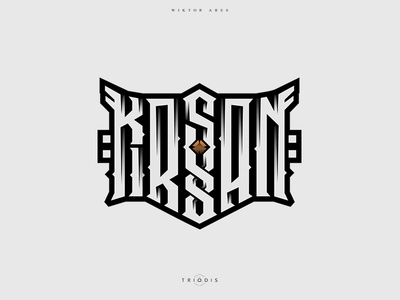 Kirsan clothing tshirt wiktor ares music game logotype logo lettering high-style typography