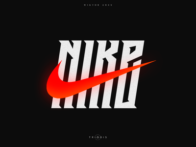Nike sport nike clothing tshirt wiktor ares music game logotype logo lettering high-style typography