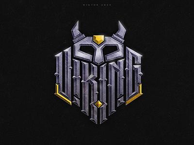 Viking vikings valhalla viking clothing tshirt wiktor ares music game logotype logo lettering high-style typography