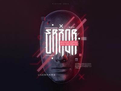 ERROR 404 cyberpunk error wiktor ares music game logotype logo lettering high-style typography