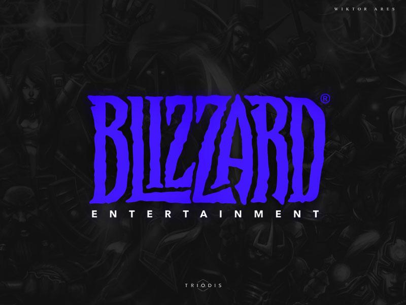 "rebranding the ""Blizzard"" logo fel high-style legends logotype logo typography letterin"