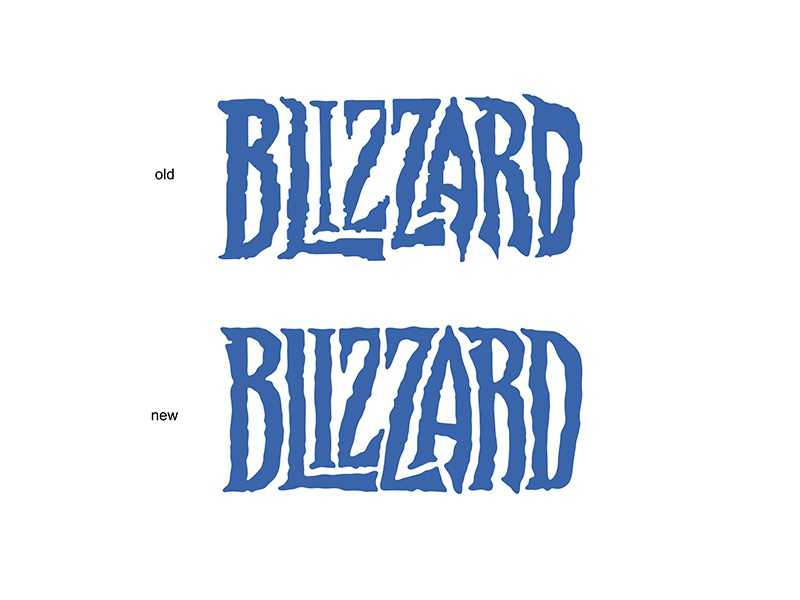 "rebranding the ""Blizzard"" logo fe high-style legends logotype logo typography letterin"