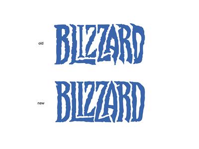 "rebranding the ""Blizzard"" logo"