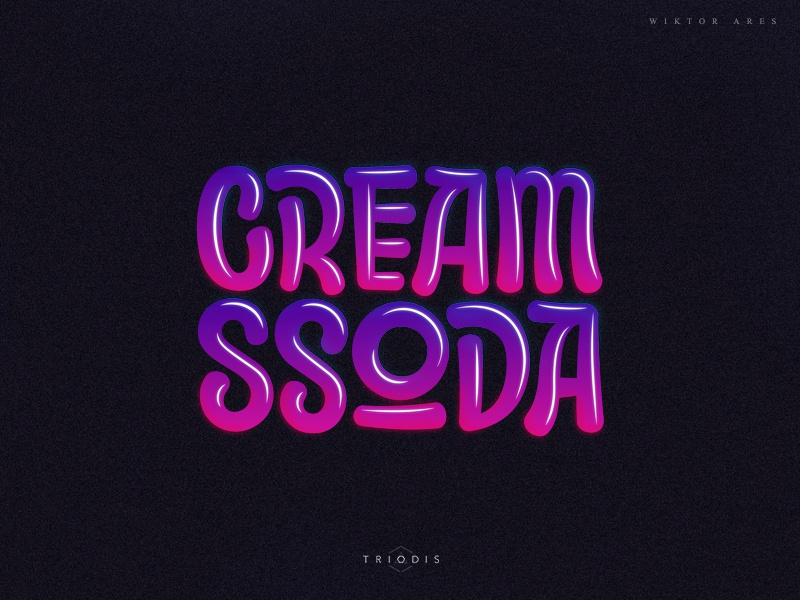 Cream ssoda music gamelogo twitch high-style game logotype logo typography letterin