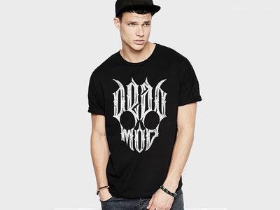 Deadmod scull tshirt clothing wiktor ares game music logotype logo lettering high-style typography