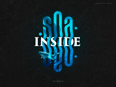 Sea inside sea creature fish under water ocean water sea design tshirt clothing wiktor ares game music logotype logo lettering high-style typography