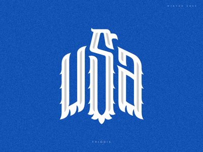 USA wiktor ares tshirt design eagle usa clothing wiktor ares game music high-style logotype logo lettering typography
