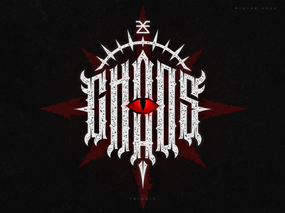 Chaos (warhammer 40k) 40000 eye khorn chaos warhammer clothing wiktor ares music game logotype logo lettering high-style typography