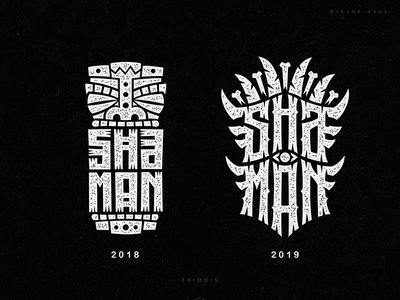 Shaman clothing tshirt wiktor ares music game logo logotype lettering high-style typography