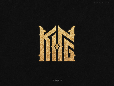 King gold crown king clothing tshirt wiktor ares music game logo logotype lettering high-style typography