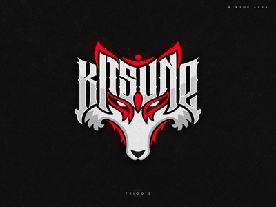 Kitsune clothing tshirt wiktor ares music game logotype logo lettering high-style typography