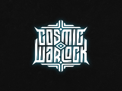 Cosmic warlock clothing tshirt wiktor ares music game logotype logo lettering high-style typography
