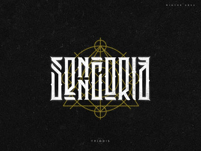 Senncoria clothing tshirt wiktor ares music game logotype logo lettering high-style typography
