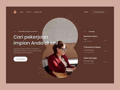 Job search websites - Exploration hero ui landing page exploration jobs design desktop website