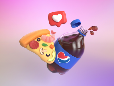 Yummy things illustrate 3d art illustration design