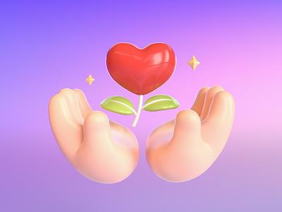 Organic and Healthy illustrate 3d art illustration design