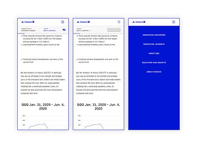 Invesco QQQs Everscroll navbar nav topbar loop scroll mobile