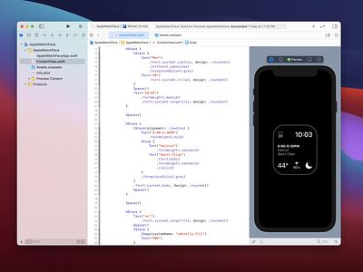 Apple Watch face in SwiftUI ios development dev swiftui swift watch apple