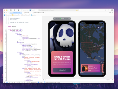 Halloween Run in SwiftUI app map halloween swiftui swift
