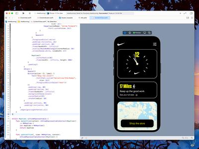 Nike Running App in SwiftUI clock running nike swiftui swift