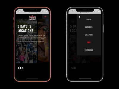 Milwaukee Rally Mobile Website