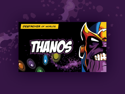 Thanos Business Card dribbbleweeklywarmup business cards stones infinity marvel thanos