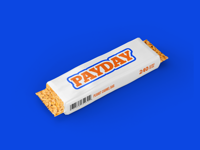 Payday Re-design nuts wrapper candy payday chocolate bar dribbbleweeklywarmup