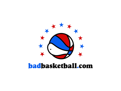 Bad Basketball logo oldschool stars ball aba retro dribbble nba logo basketball