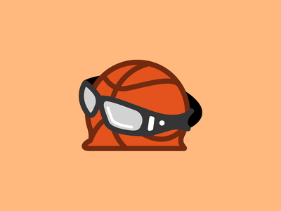Unused logo concept (Bad Basketball) throwback retro flat basketball logo logo design