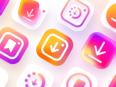 Icons for Instasaver 🔥 instagram story instagram post instagram branding app ui mobile app design ui design icons design icons set icons app icons