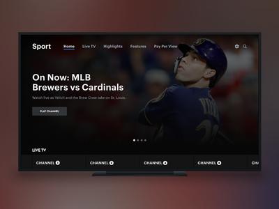 Live Sports TV App Exploration