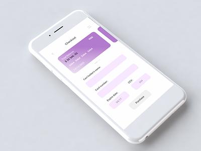 Daily UI 2 - Credit Card Checkout minimal app design uxdesign ux ui dailyuichallenge dailyui