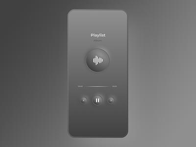 Daily UI 09 - Music Player music player music app neumorphism minimal figmadesign figma design dailyuichallenge app uxdesign ux ui dailyui