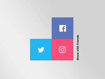 Daily UI 10 - Social share daily 100 challenge figmadesign figma design dailyuichallenge app uxdesign ux ui dailyui