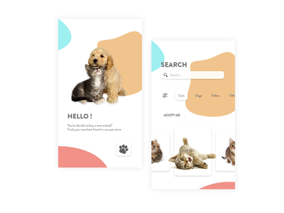 Pet App petapp daily 100 challenge figmadesign figma design app dailyuichallenge uxdesign ux ui dailyui