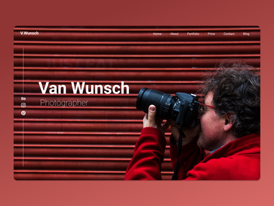 Landing Page Photographer portfolio photographer photograph photography figma uxdesign ux ui dailyui