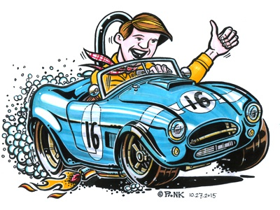 Cartoon Shelby Cobra